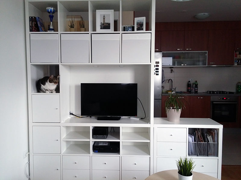 ikea kallax regal za tv iskonstrukcije. Black Bedroom Furniture Sets. Home Design Ideas